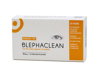 Image of a box of Blephaclean wipes