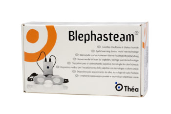 image of a box containing a Blephasteam device