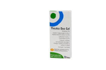 Image of a box of Thealoz Duo Gel 30 unit dose drops